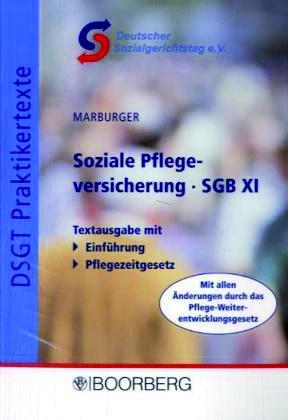 Marburger: Soziale Pflegeversicherung – SGB XI