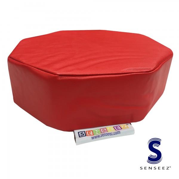 Rotes Octagon - vibrierendes Kissen