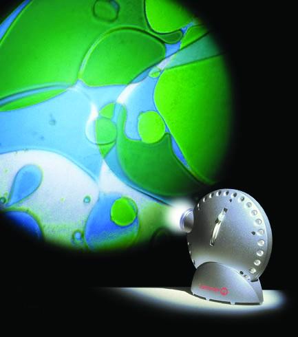 Space Projektor mit Ölrad blau-grün