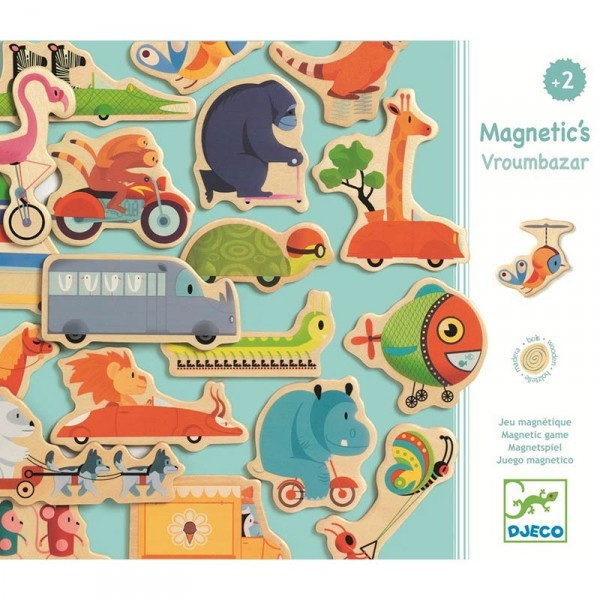 Magnete-Set - Tiere auf Rädern