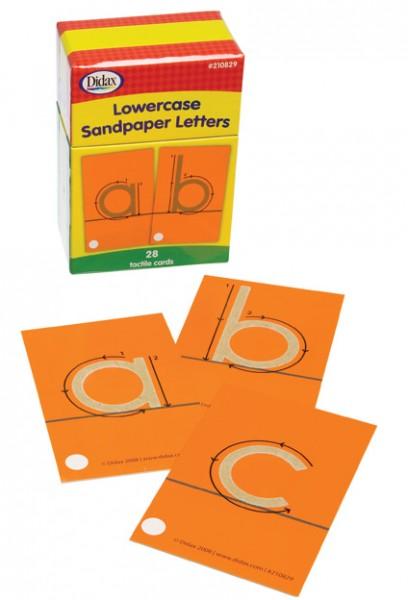 Taktile Buchstabenkarten Kleinbuchstaben