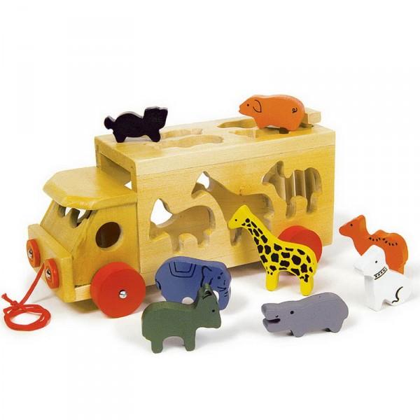 Zoowagen mit Tieren