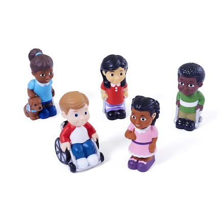 Kinder mit Behinderungen - Große Soft und Safe Spielfiguren