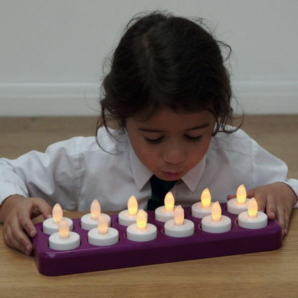 Elektrische Clever-Kerzen zum Ausblasen