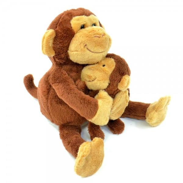 Nachsprech-Mama-Affe mit Baby