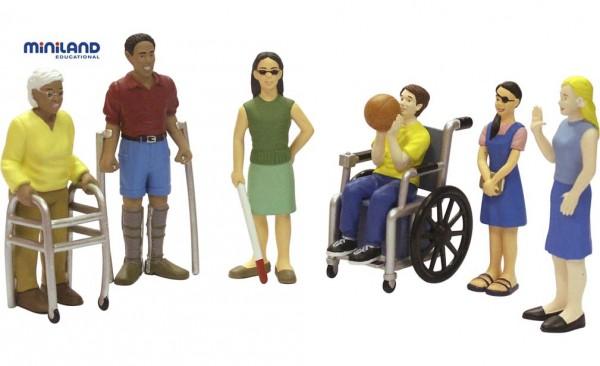 Spielfiguren mit Behinderungen