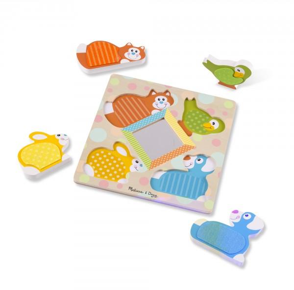 Spiegel-Puzzle Tierbabys