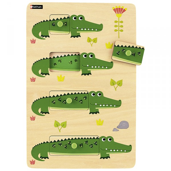 Krokodilo Größen-Puzzle