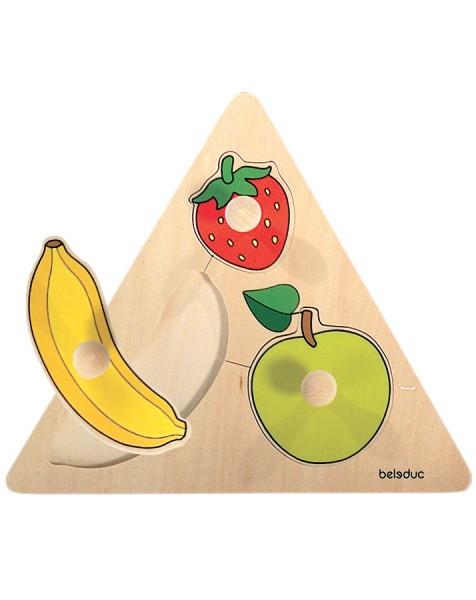 Dreieck-Puzzle Früchte