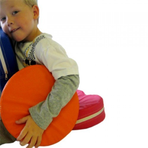 Zirkus Orange - vibrierendes Kissen