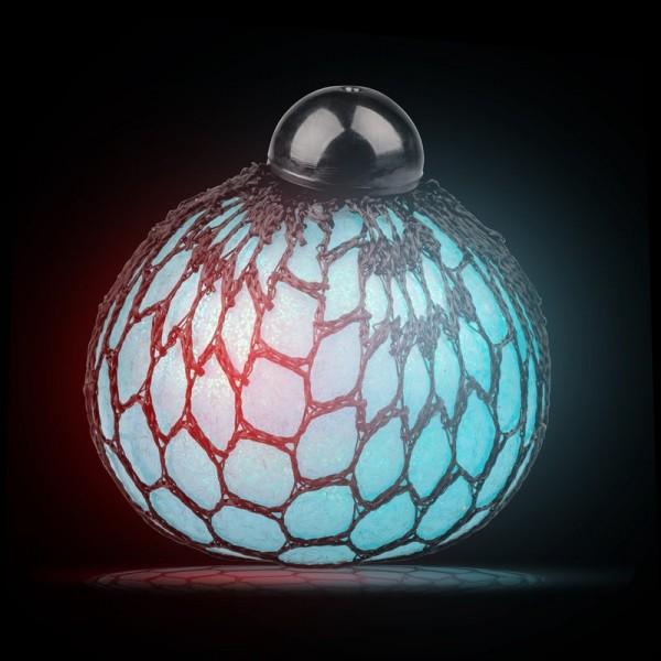 Leuchtender Metallic-Blasenball