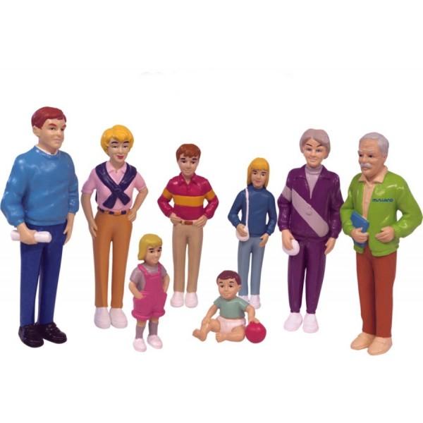 Spielfiguren Europäische Familie