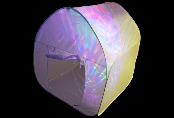 Weißes Projektions-Zelt