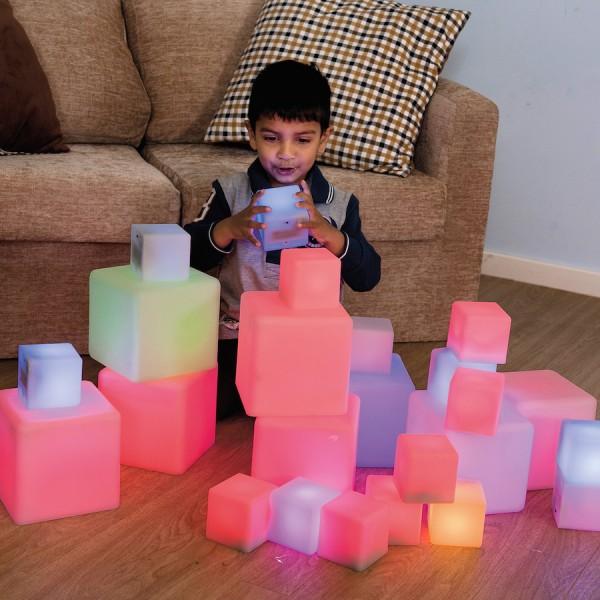 Leuchtendes Würfel-Set