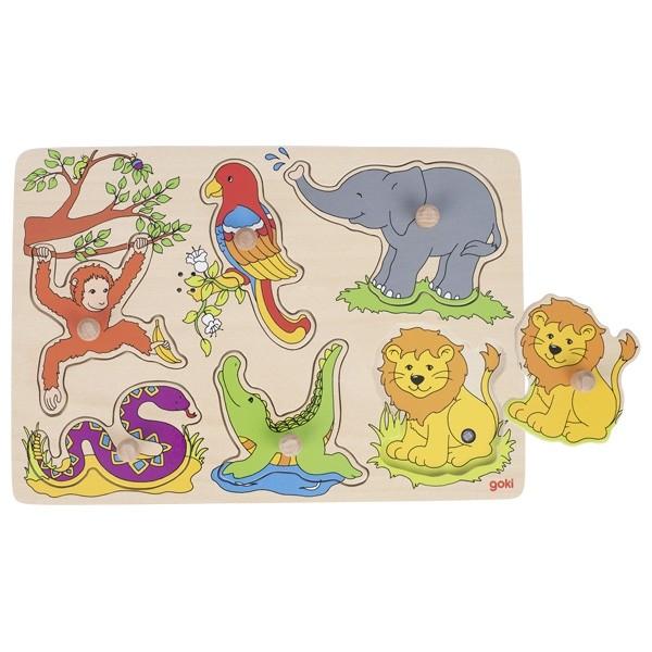 Klang-Puzzle Tiere im Zoo