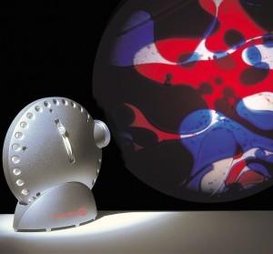 Space Projektor mit Ölrad rot-blau