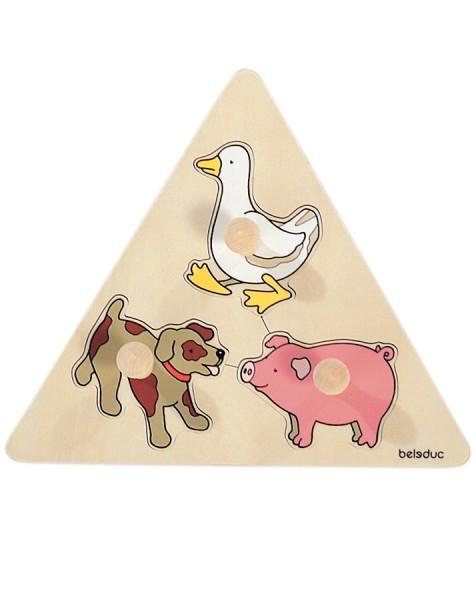 Dreieck-Puzzle Tiere
