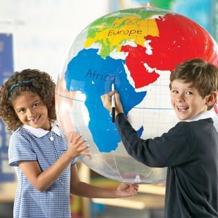Riesen-Globus zum Beschriften