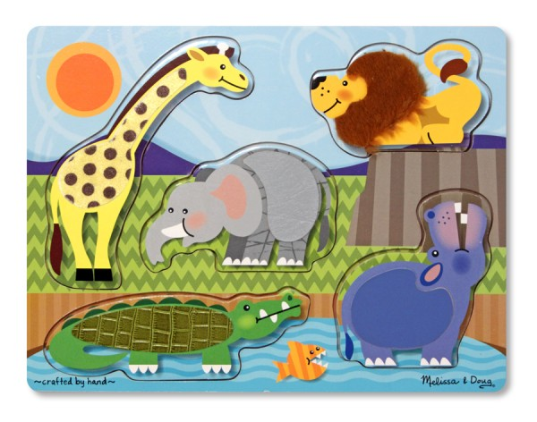 Großes Fühlpuzzle Im Zoo