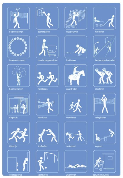 Piktogramme Freizeit-Set