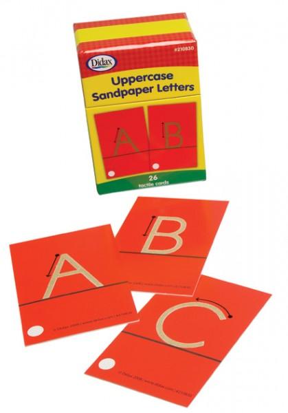 Taktile Buchstabenkarten Großbuchstaben