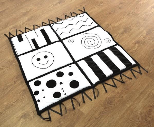 Tepicco schwarz-weiß Teppich