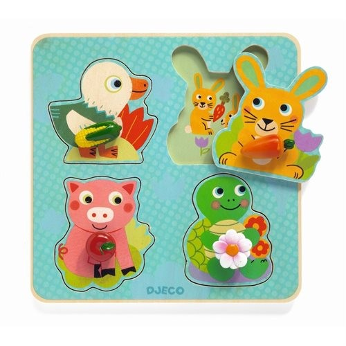 Entdecker-Puzzle Lustige Tiere