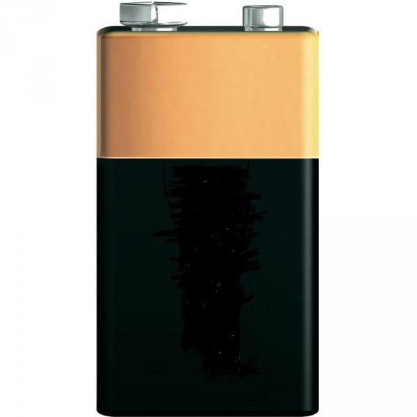 9 Volt-Block Batterie
